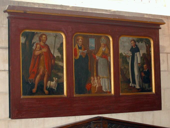 Triptyque : Saint Nicolas et saint Lyé, saint Fiacre et donateur, saint Jean-Baptiste