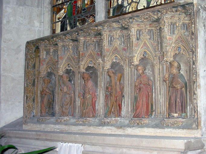 Retable : Six apôtres