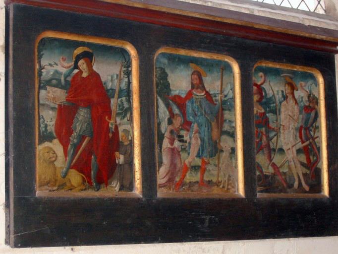 Triptyque : Saint Adrien, saint Roch, saint Sébastien