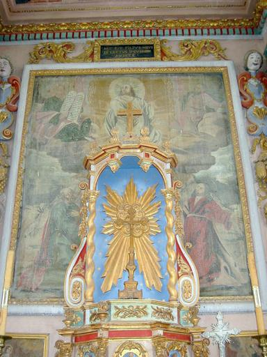 4 tableaux d'autel : Saint Jean-Baptiste, Transfiguration, saint Germain, Dieu le Père