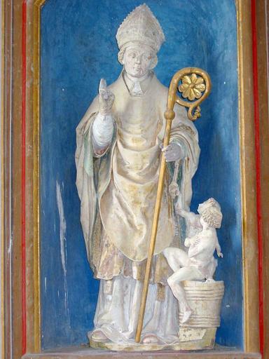 bas-côté nord : autel Saint-Nicolas