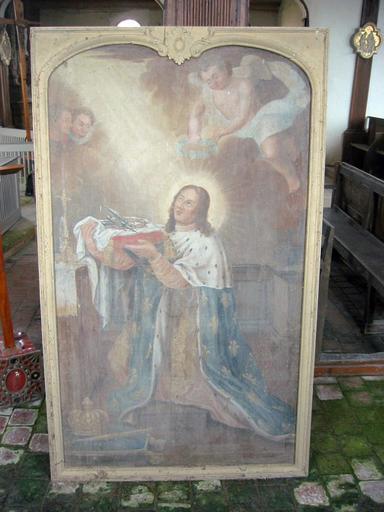 Tableau : Saint Louis offrant la couronne d'épines, cadre