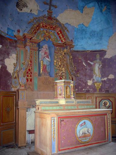 Maître-autel, retable et tabernacle