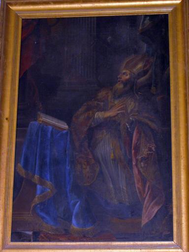 Tableau : Saint Augustin en prière