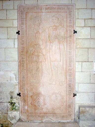 Dalle funéraire de Nicolas Lefevre et de Simone Gombault