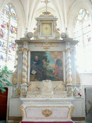 Maître-autel, retable, tabernacle
