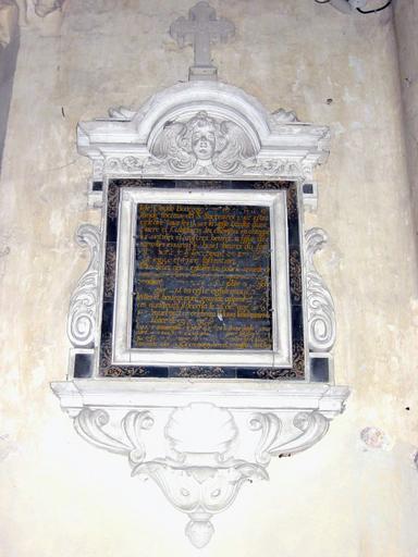 Plaque commémorative de fondation de Claude Bourgoin