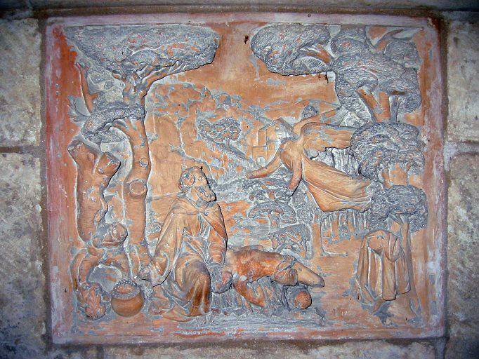 2 bas-reliefs : Sacrifice d'Abraham, Caïn et Abel