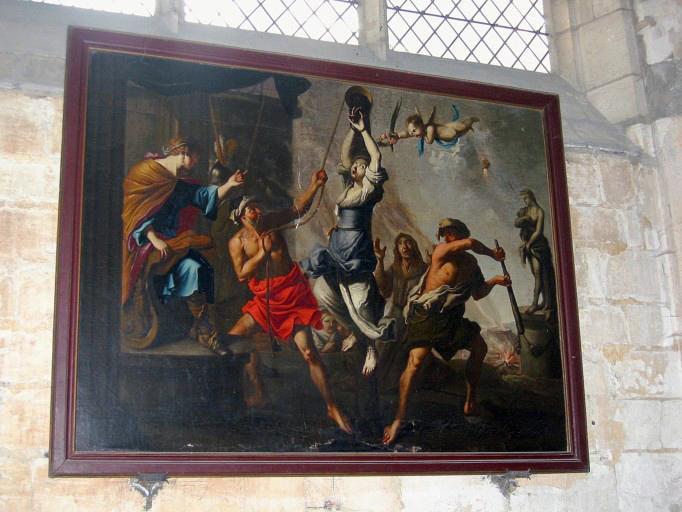 Tableau : Martyre de sainte Martine