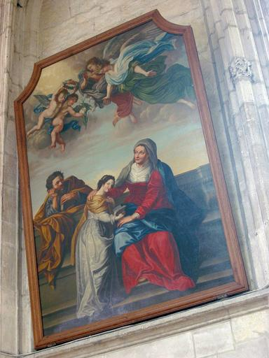 Tableau : Vierge entre sainte Anne et saint Joachim