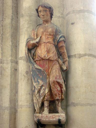 Statuette : Saint au livre (saint Jean ?)