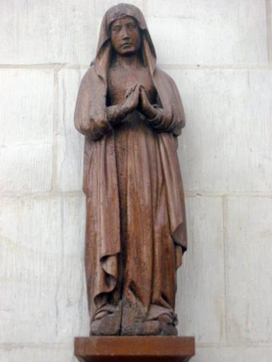Statuette de calvaire : Vierge