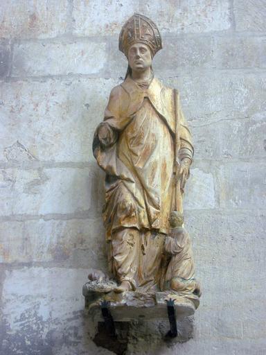 Statue : Saint évêque et donateur