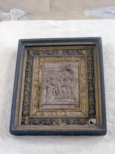 Bas-relief : Jugement de Salomon, cadre