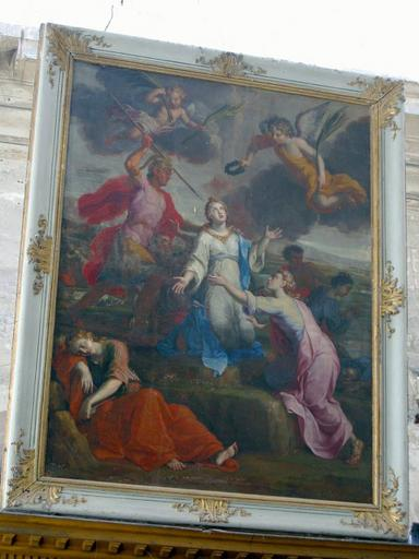 Tableau : Martyre de sainte Ursule, cadre