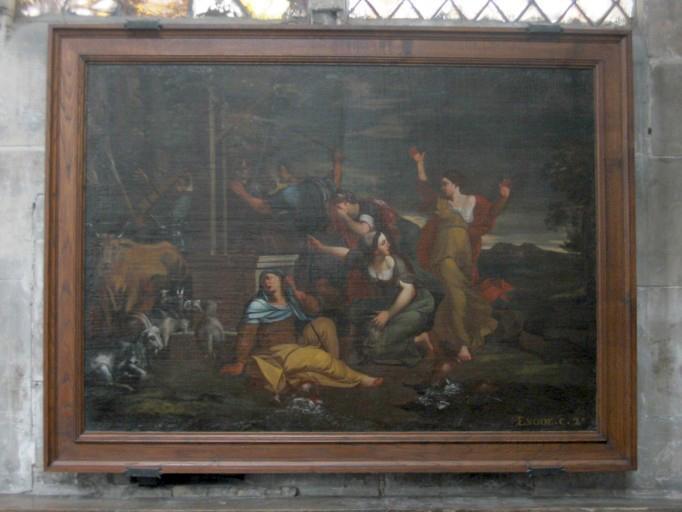 Tableau : Moïse et les filles de Raguel