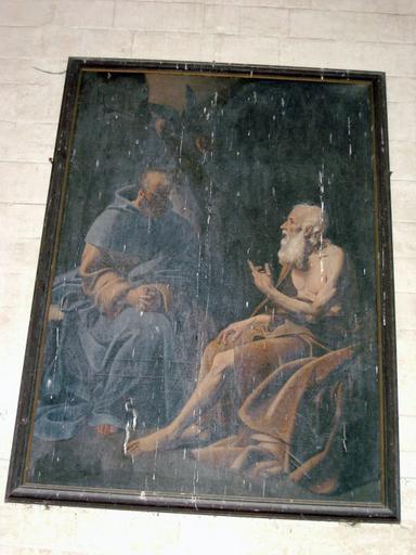 Tableau : Saint Paul et saint Antoine ermites