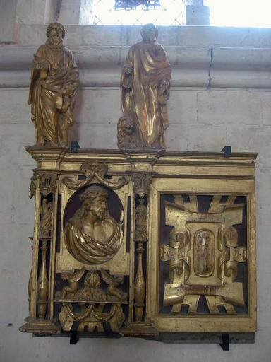 Fragments de retable : Christ, Vierge