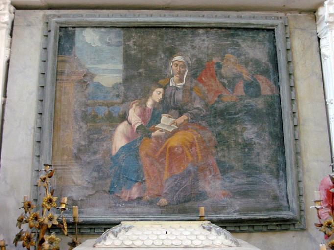 Tableau d'autel : Éducation de la Vierge
