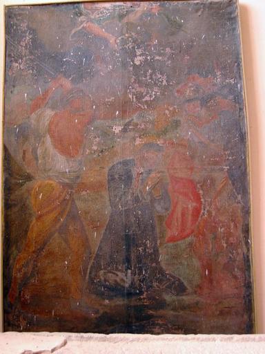 Tableau d'autel : Martyre de saint Lupien
