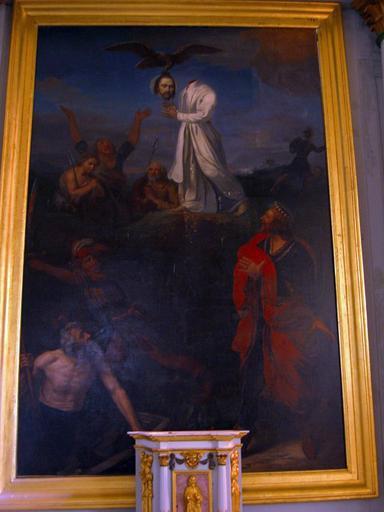 Tableau : Martyre de saint Lupien