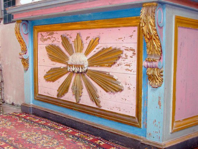 Autel de la Vierge, tabernacle avec le Christ