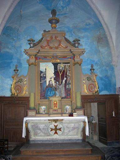 Maître-autel, retable et degré d'autel