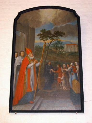 Tableau : Charité du cardinal de Bérulle