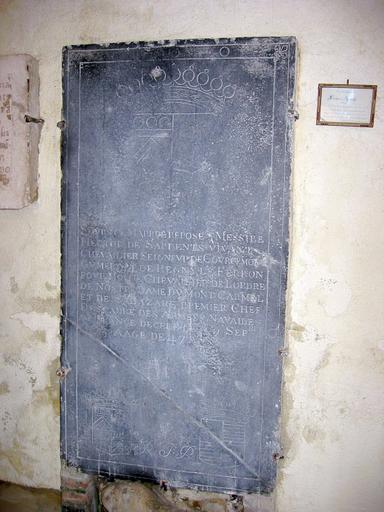 Dalle funéraire d'Hector des Ardents