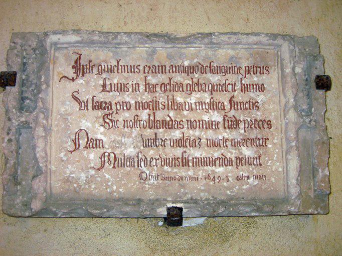 Dalle funéraire de Guillaume Pierre