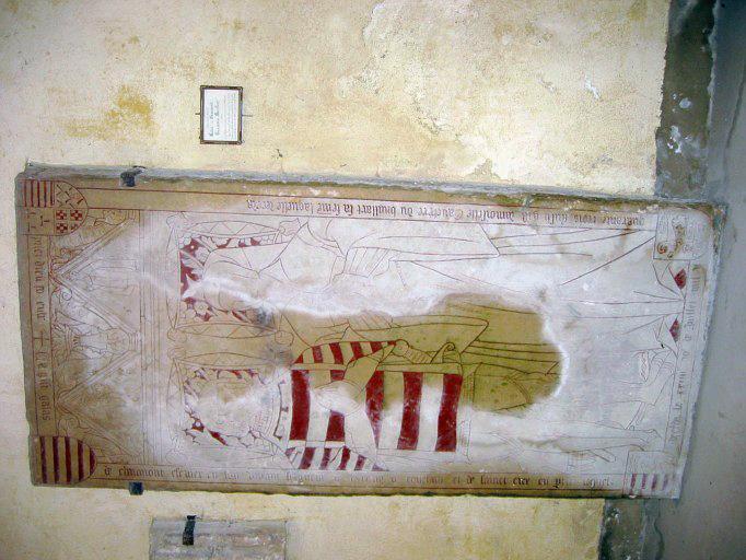 Dalle funéraire de Galléas de Chaumont et de Gauchère de Bruillard
