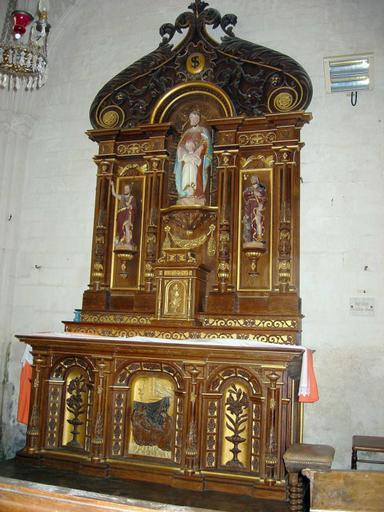 2 retables, 2 autels et tabernacles