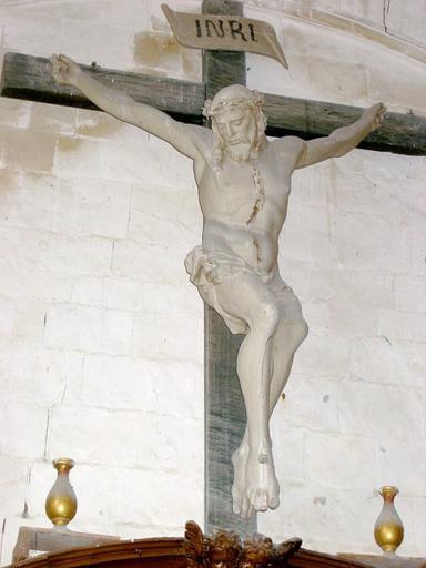Calvaire (statues) : Christ, la Vierge et saint Jean