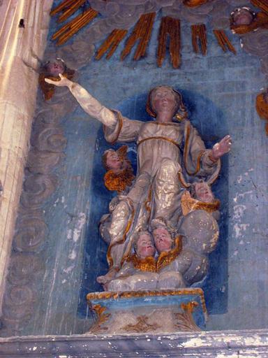 3 statues : Assomption de la Vierge, anges