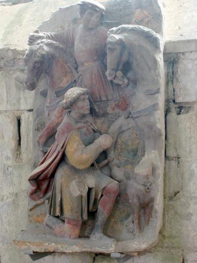Bas-relief : Saint Hubert