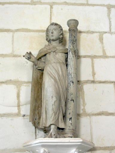 Statuette : Ange à la colonne (?)