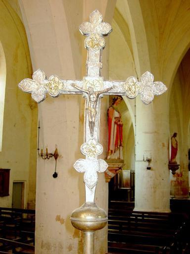 Croix de procession : les Évangélistes, Vierge de Pitié