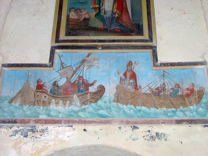 Panneau peint : Scènes de la vie de saint Nicolas