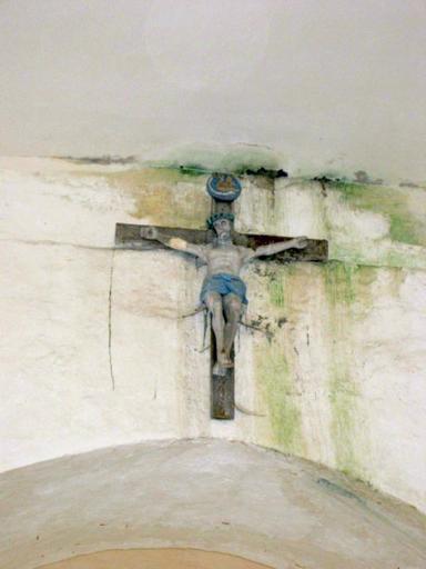 Sculpture : Christ en croix de Calvaire