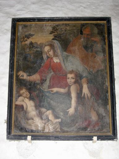 Tableau : Sommeil de l'Enfant Jésus