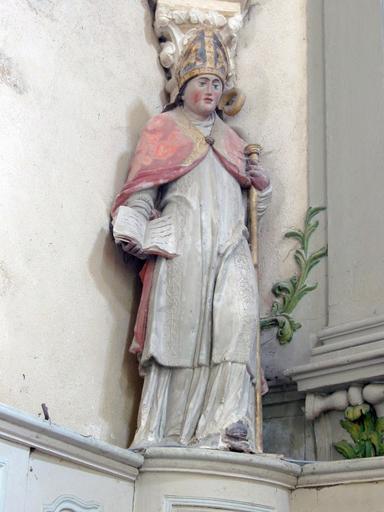 Statue : Saint évêque tenant un livre