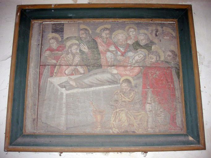 Panneau peint : Mort de la Vierge