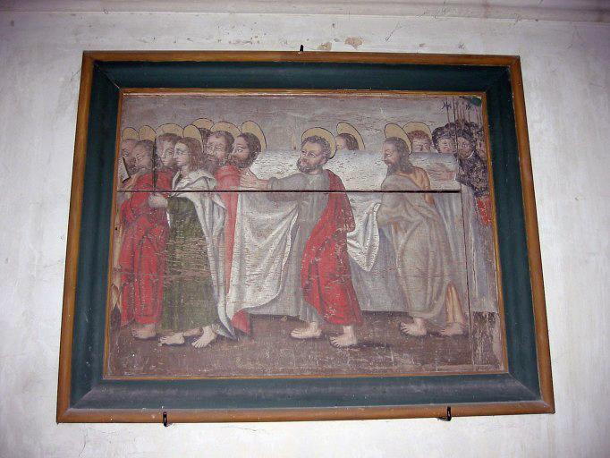 Panneau peint : Obsèques de la Vierge