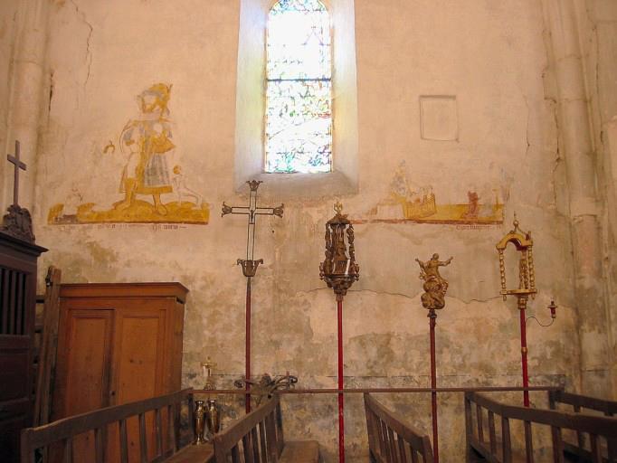 Peinture monumentale : Saint Roch, saint Nicolas