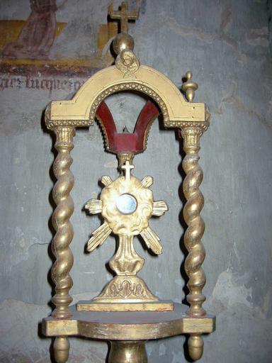 Bâton de procession de confrérie : Saint-Sacrement