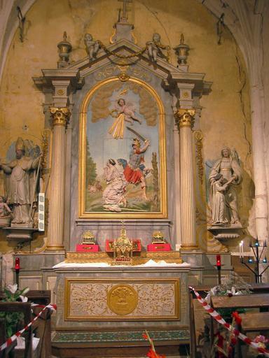 Autel et retable de sainte Beline