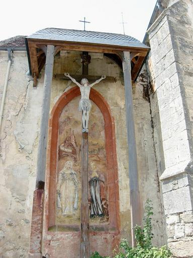 Peinture monumentale : Vierge et Marie-Madeleine