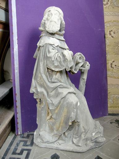 Statue : Saint Jean écrivant sous la dictée