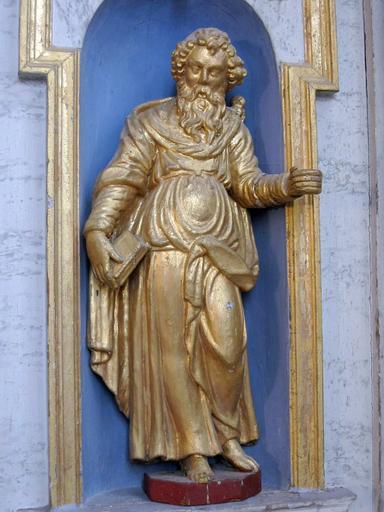 3 statuettes : Christ, saint Pierre, saint Paul