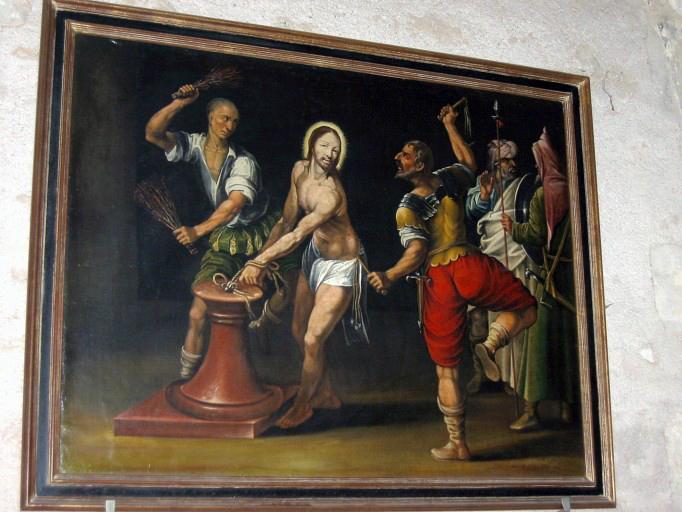 Panneau peint : Flagellation